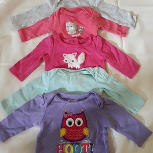 0-3 month girl mixed lot 28 pieces
